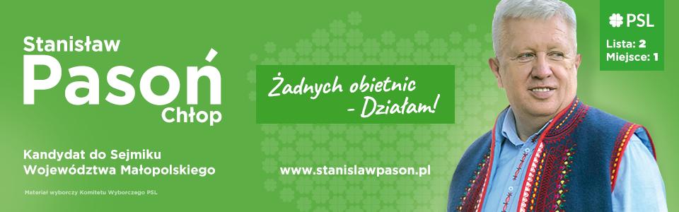 Stanisław Pasoń CHłop kandydat do sejmiku Województwa Małopolskiego